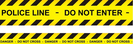 Caution, danger, and police tape attention Illustration