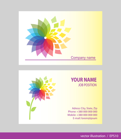 business contact: Business Card Set. Vector illustration. EPS10