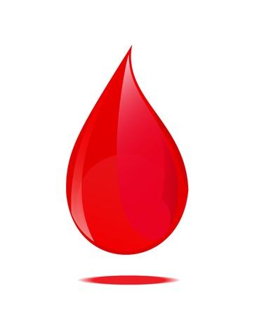 Blood drop symbol. Vector illustration.