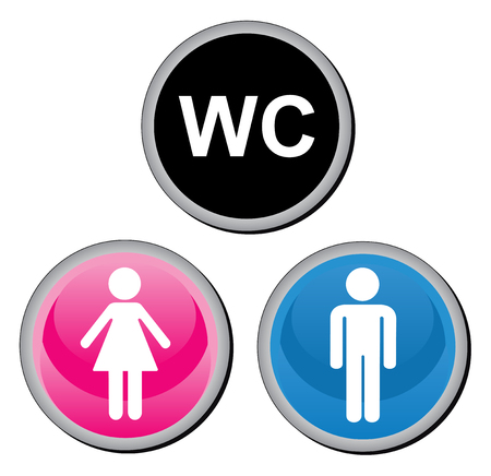 latrine: Toilette sign. Vector illustration.