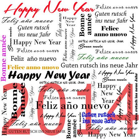 Gelukkig Nieuwjaar 2014 woorden in vele talen
