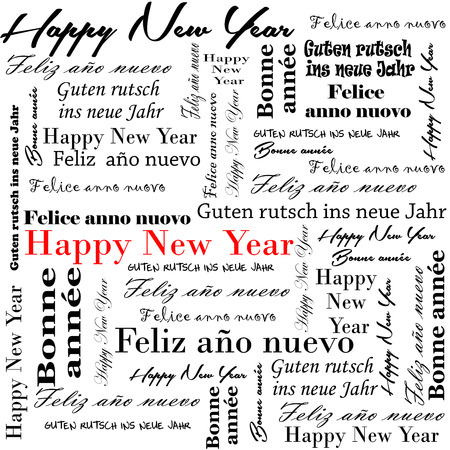 Happy New Year 2014 Words In Many Languages Stock Photo, Picture And ...