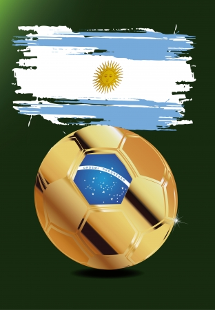 Argentinië wm brasil 2014 Stock Illustratie