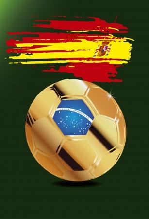 Spanje wm brasil 2014 Stock Illustratie