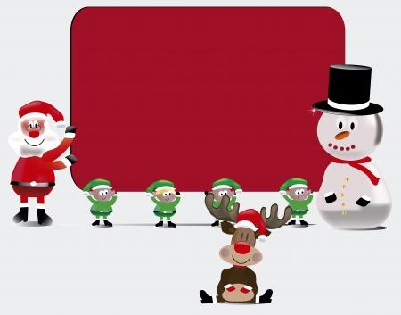 Kerst Friends Sign Stock Illustratie