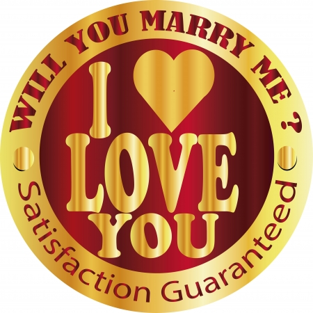 proposition: i love you, will marry me sign