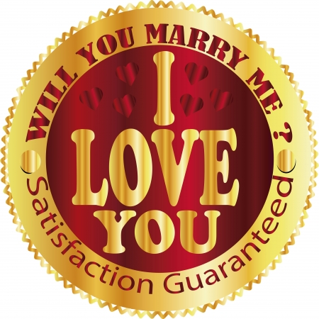 marry me: i love you , marry me Illustration