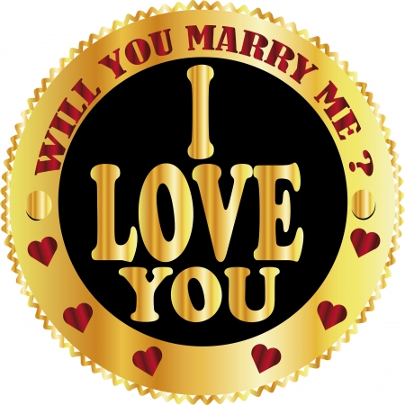 marry me: i love you, will marry me sign
