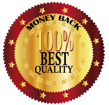 money back 100  best quality gold sign Vector