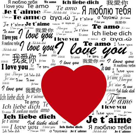 i love you words in many languages photo
