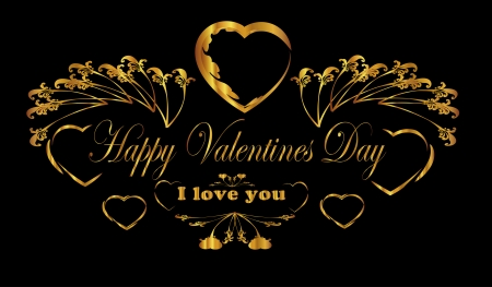 i love you ,Happy Valentine day  frame Vector