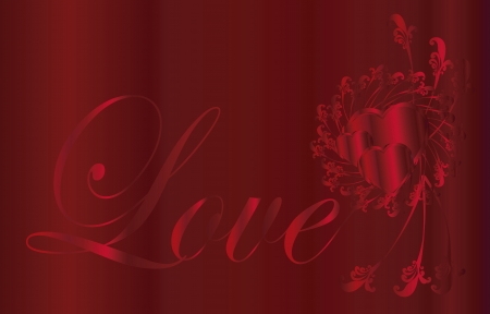 love background red metal Vector