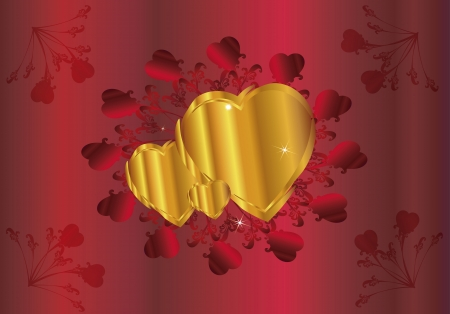 Valentine  Heart  ornament background Illustration