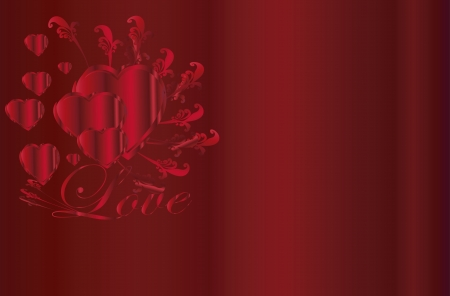 corazon: Valentine  Heart  ornament background Illustration