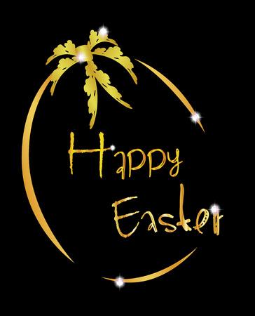 pascua: golden easter egg Illustration