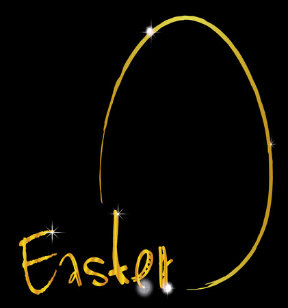 Ostern: Happy easter gold egg