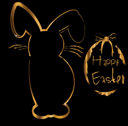 ostern: greeting card happy easter
