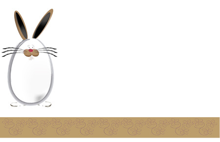 ostern: Background,  floral ribbon and bunny egg