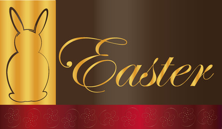background Easter Elegance gold Vector
