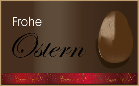 ostern: Easter egg theme background Frohe ostern text Illustration
