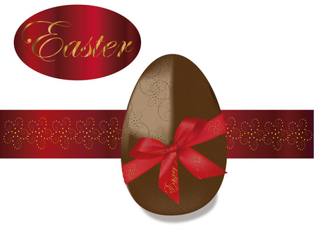 Easter theme background, with chocolate egg Vector