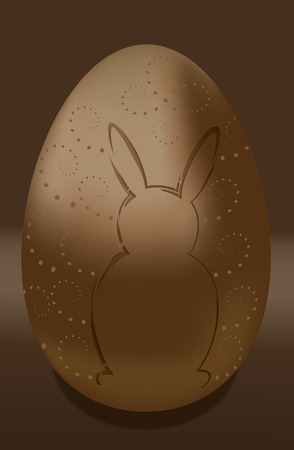 ei: Chocolate egg  happy easter bunny Illustration