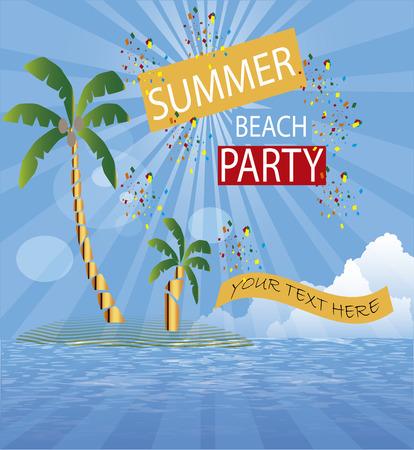 island party, beach party Vector