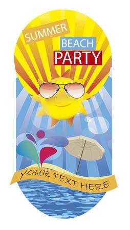 souvenir  summer beach party Vector