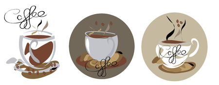 3 coffee background Vector