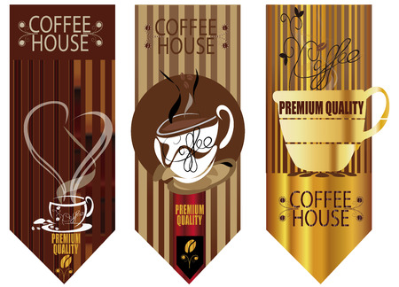 Wallpaper for decorate coffee or tea  shop  3  background Vector