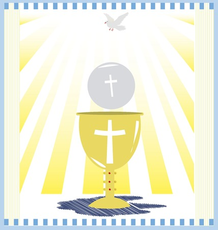 holy eucharist: First Holy Communion, is a ceremony held in the Latin Church tradition of the Catholic Church. It is the colloquial name for a persons first reception of the sacrament of the Holy Eucharist,