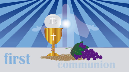 jesus standing: First Holy Communion, is a ceremony held in the Latin Church tradition of the Catholic Church. It is the colloquial name for a persons first reception of the sacrament of the Holy Eucharist,