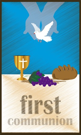 holy eucharist: The First Communion, or First Holy Communion, is a ceremony held in the Latin Church tradition of the Catholic Church. It is the colloquial name for a persons first reception of the sacrament of the Holy Eucharist