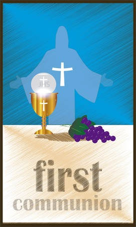 sacrament: The First Communion, or First Holy Communion, is a ceremony held in the Latin Church tradition of the Catholic Church. It is the colloquial name for a persons first reception of the sacrament of the Holy Eucharist