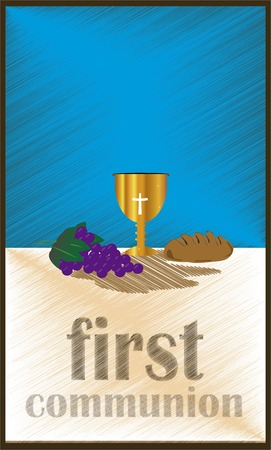 designe: The First Communion, or First Holy Communion, is a ceremony held in the Latin Church tradition of the Catholic Church. It is the colloquial name for a persons first reception of the sacrament of the Holy Eucharist