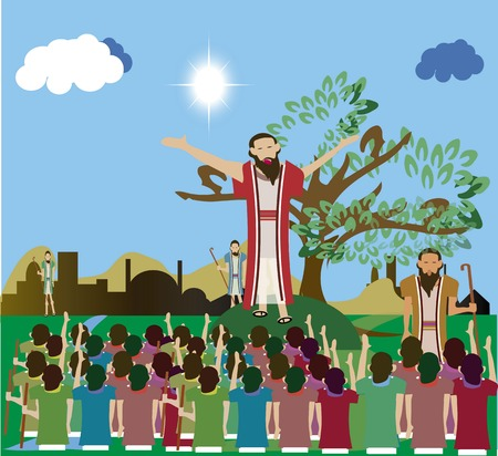 Jezus Christus te prediken aan zijn massa's volgelingen.