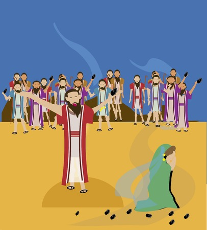 adultery: Jesus and the woman taken in adultery Stock Photo