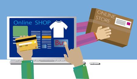 Met onmiddellijke verzending online winkelen,