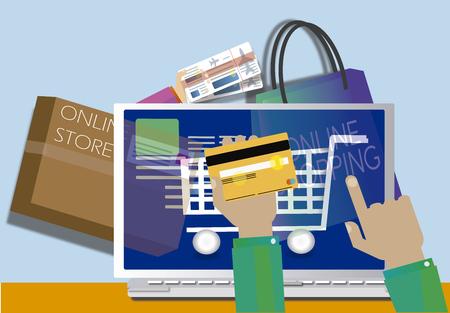 Online winkelen concept. Web Store JPG illustratie