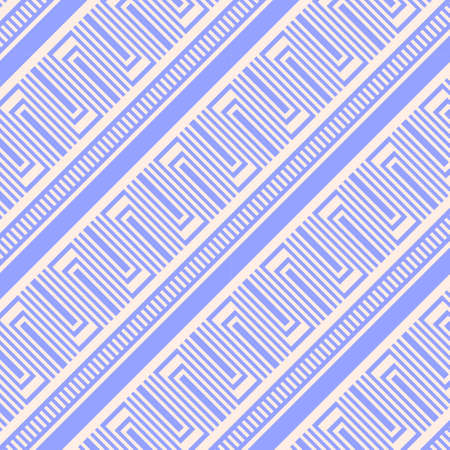 Ancient greece blue pattern on light background, traditional ornate with simple geometrical motif, meander symbols, design for print or textile