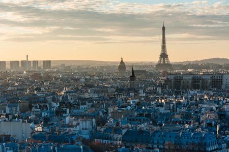 Paris sunset view from the roof of Notre-dame de Paris Banque d'images