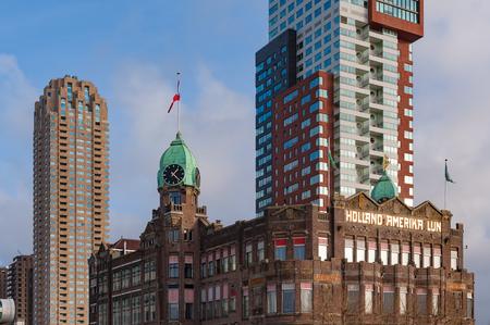 New York Hotel facade in Rotterdam