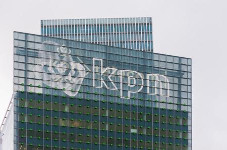 KPN logo on KPN building Éditoriale