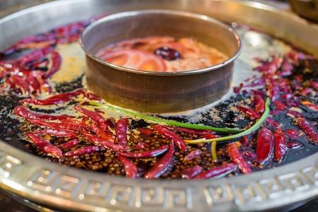 Chengdu Sichuan Hot Pot hautnah, Chenggdu, Provinz Sichuan, China