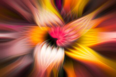 Colorful smooth bright flower shape swirl abstract background