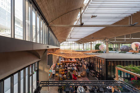 Paris, France - April 15, 2019 : People in La Felicita italian Bar-Restaurant - big mama concept - in the 13th arrondissement of Paris Sajtókép