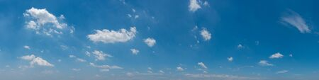 Blue sky and white clouds wide panorama background