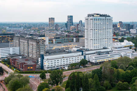 Rotterdam, Netherlands - May 7, 2019 : Erasmus University Medical Center university aerial view 新闻类图片