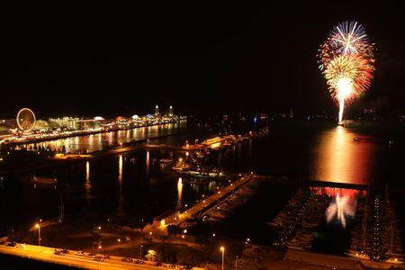brings: Summer in Chicago brings weekly fireworks on the lake near Navy Pier.