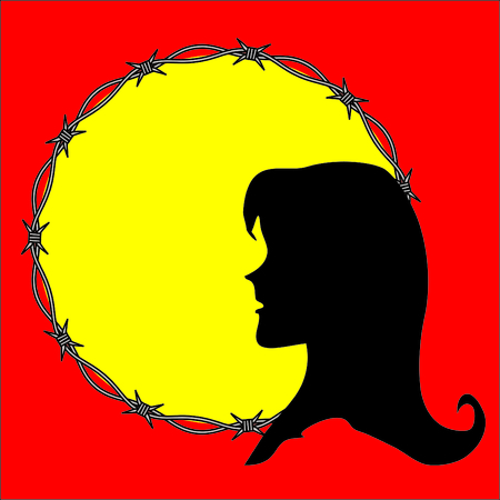 prisoner of war: Violation of woman rights Illustration